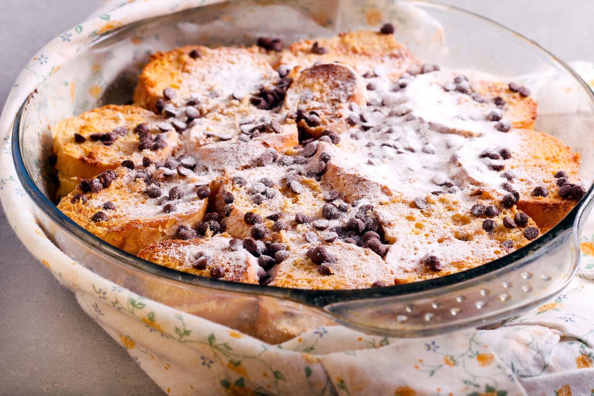 Boozy Make Ahead Chocolate Bread Pudding