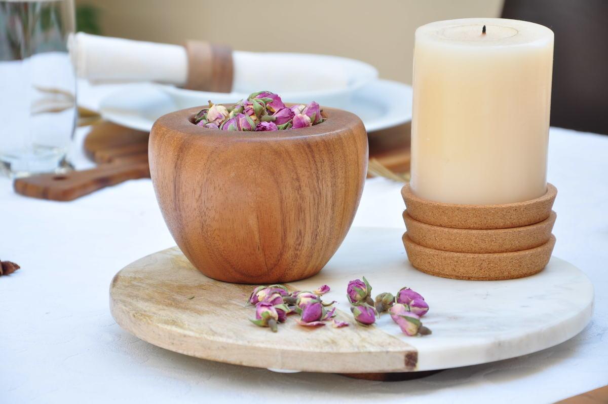 Tu Bishvat Table Decor Bowl of Rose Petals