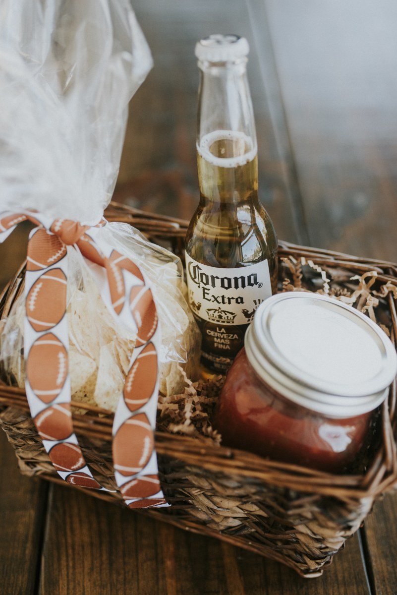 Salsa and chips gift basket