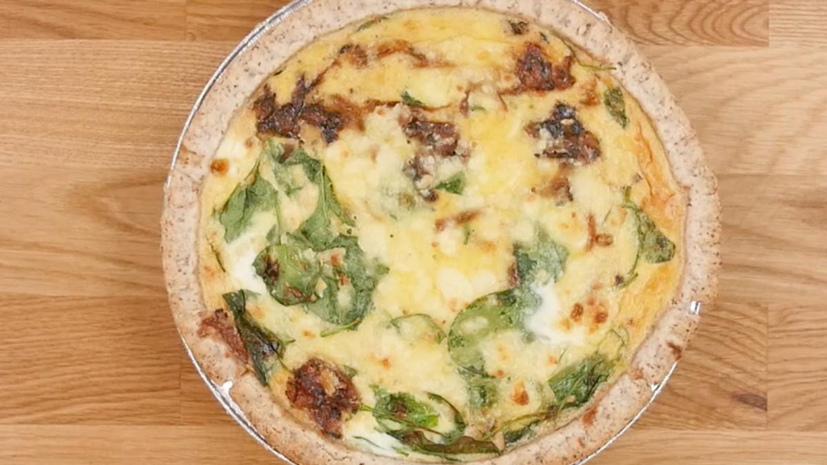 caramelized onion and feta quiche