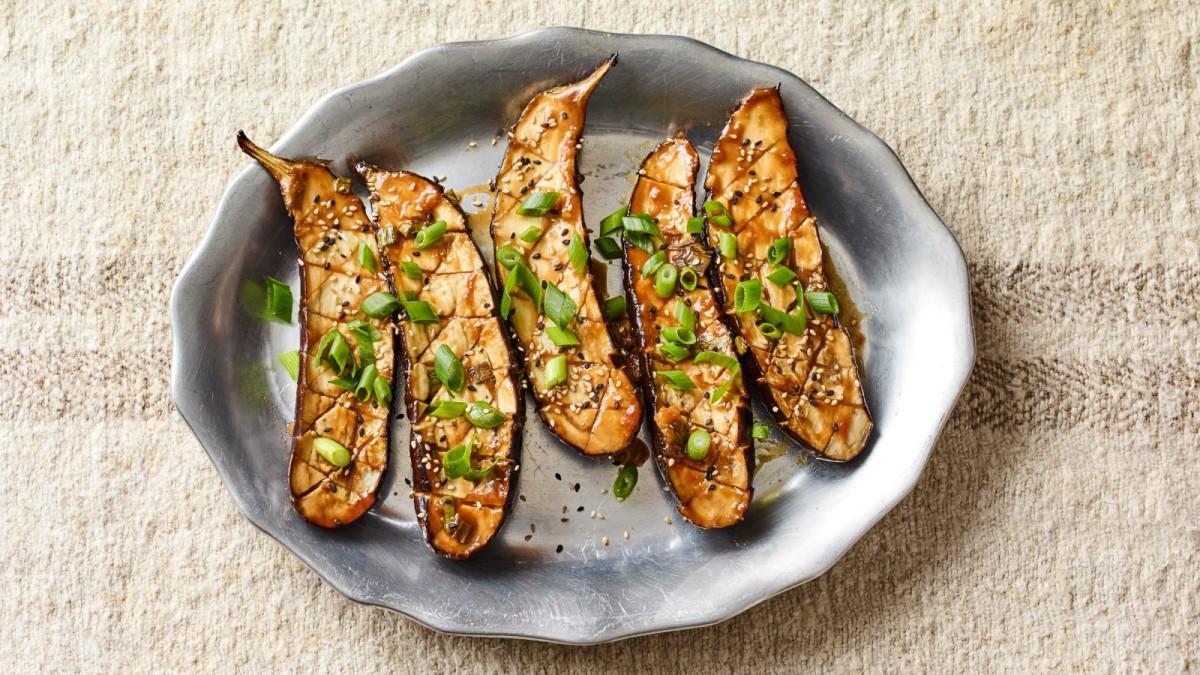 Miso Glazed Japanese Eggplant