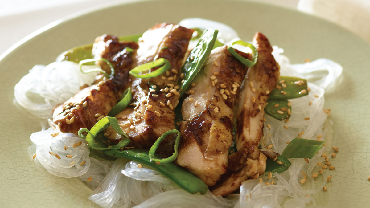 Hoisin Chicken with Glass Noodles