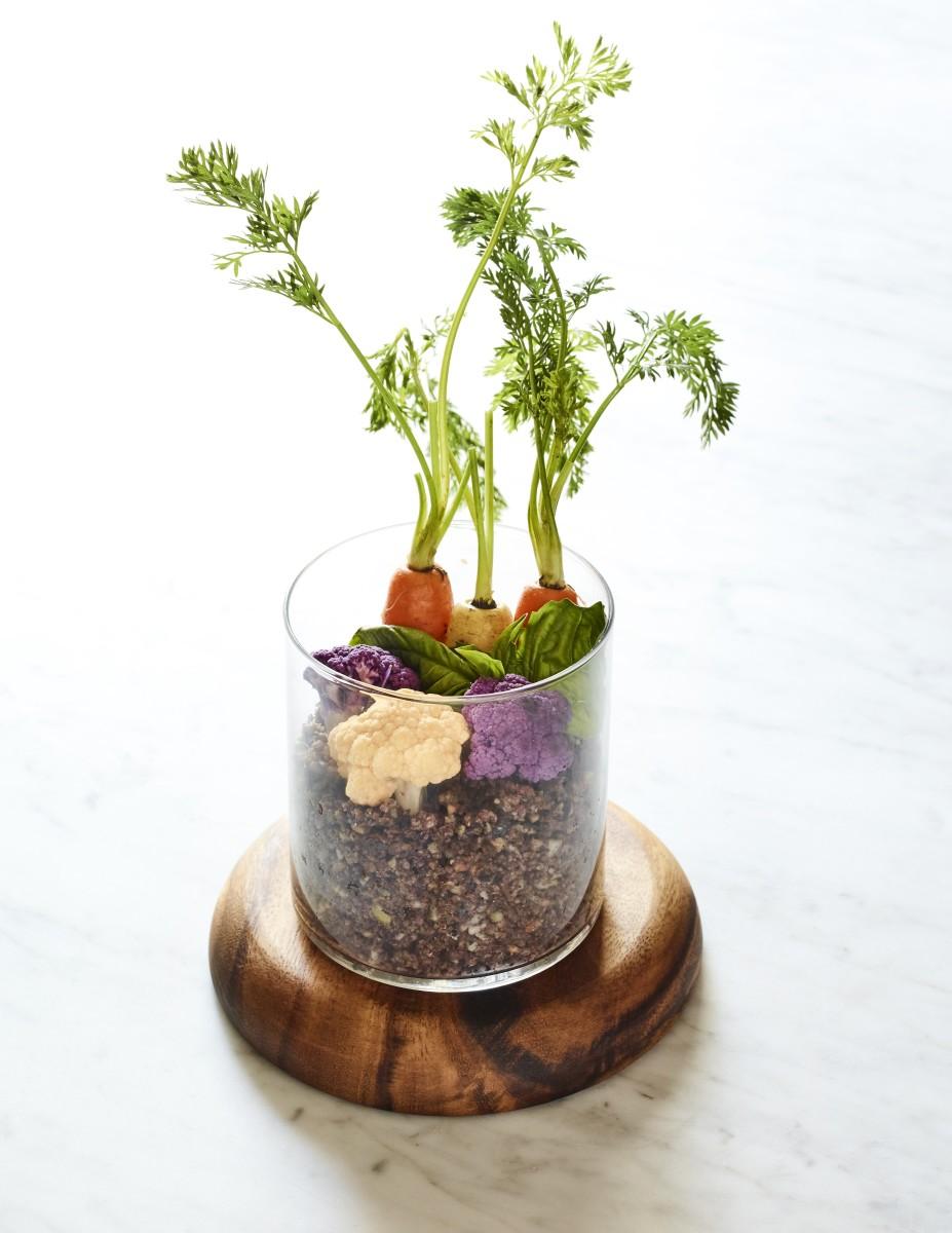 Edible Garden centerpiece