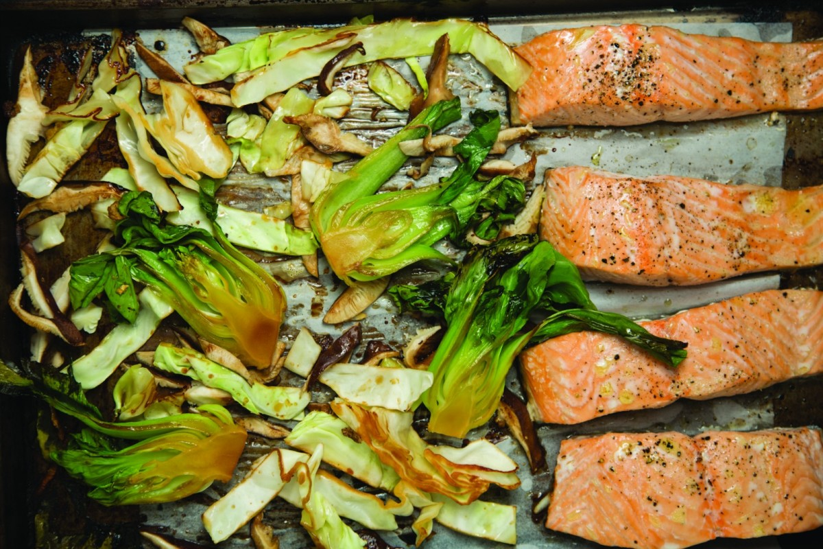 Salmon sheet pan dinner joy of kosher sheet pan asian roasted salmon ccuart Choice Image