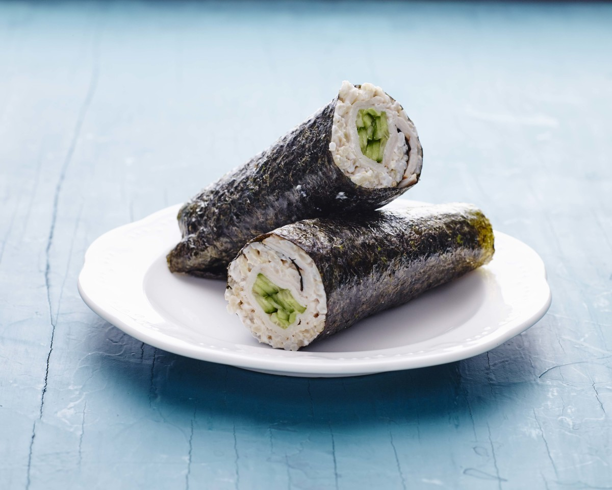 smoked turkey nori wrap horizontal