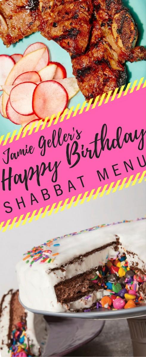 jamie geller birthday shabbat menu