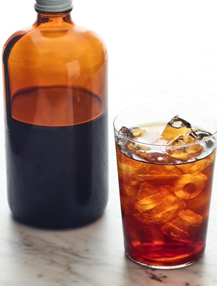 Laura's iced coffee concentrate