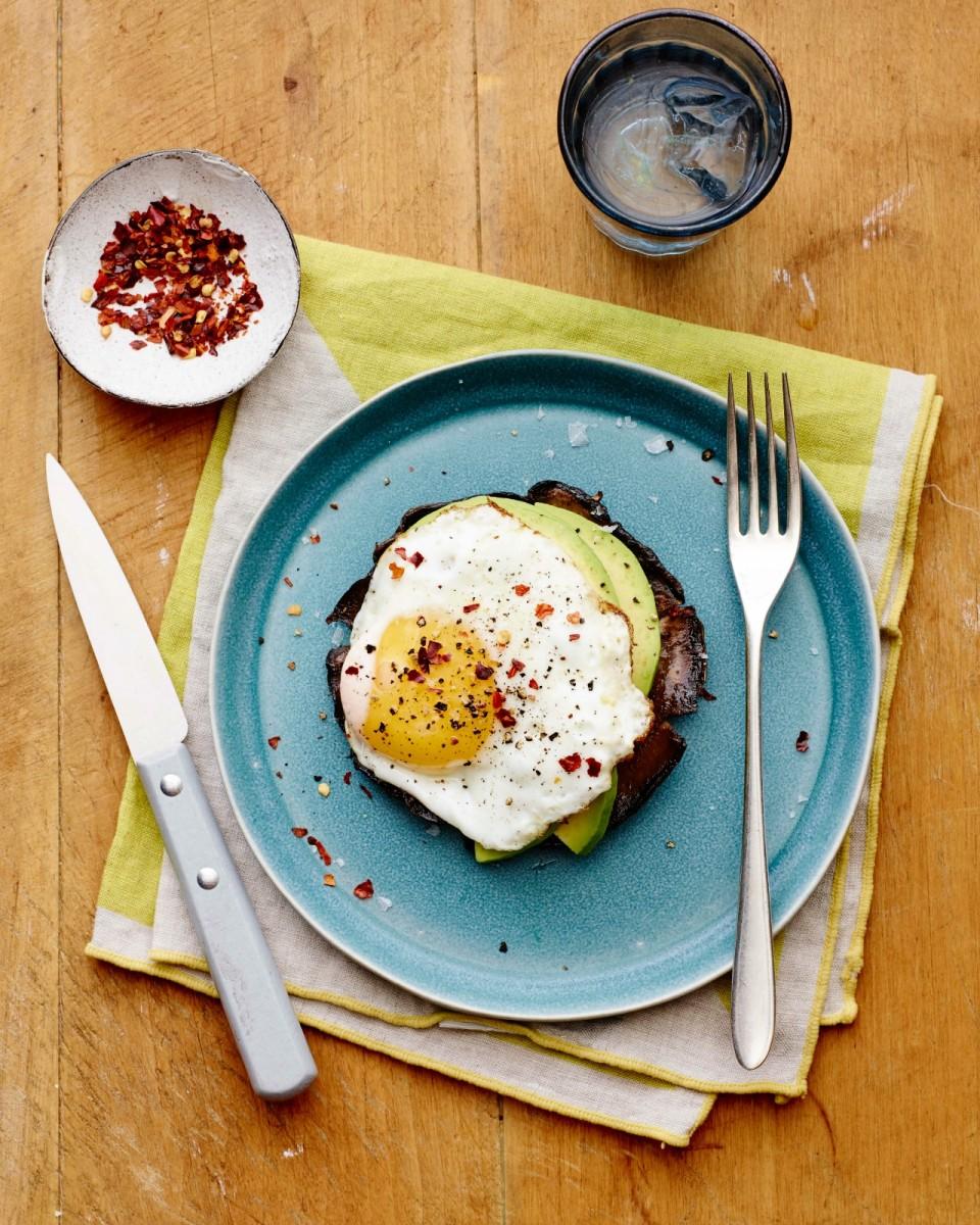 Breakfast Portobello Eggs vertical