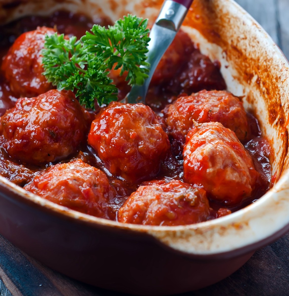sweet and sour meatballs vertical