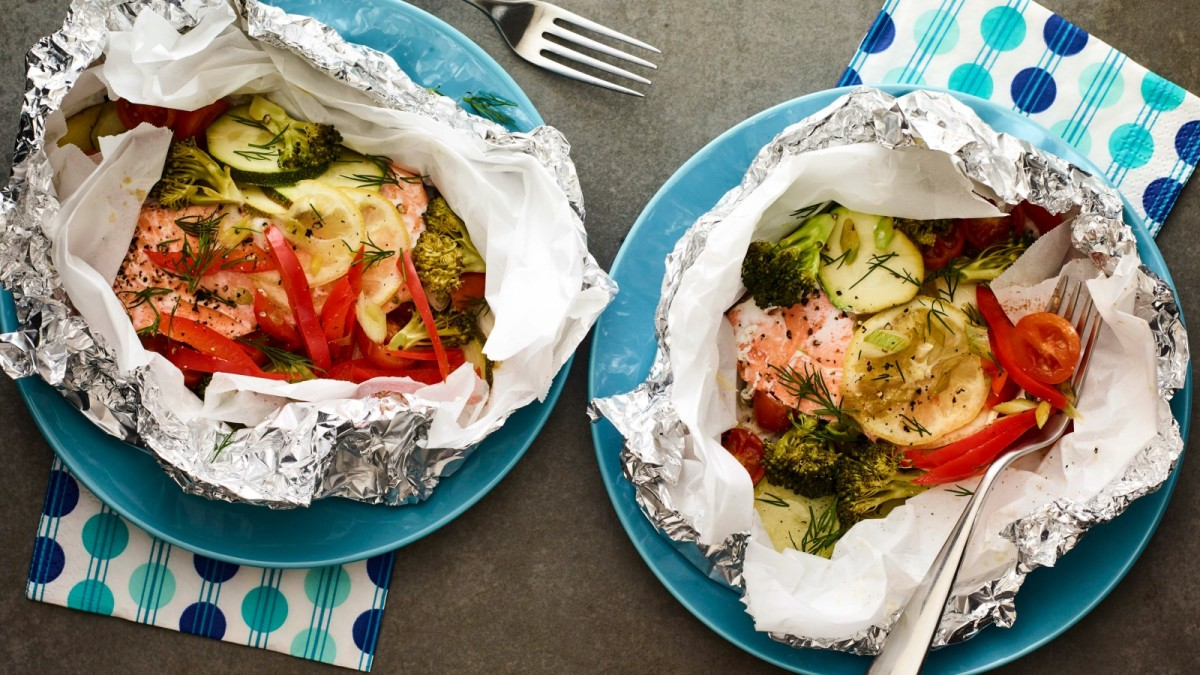 Grilled Salmon Packets horizontal