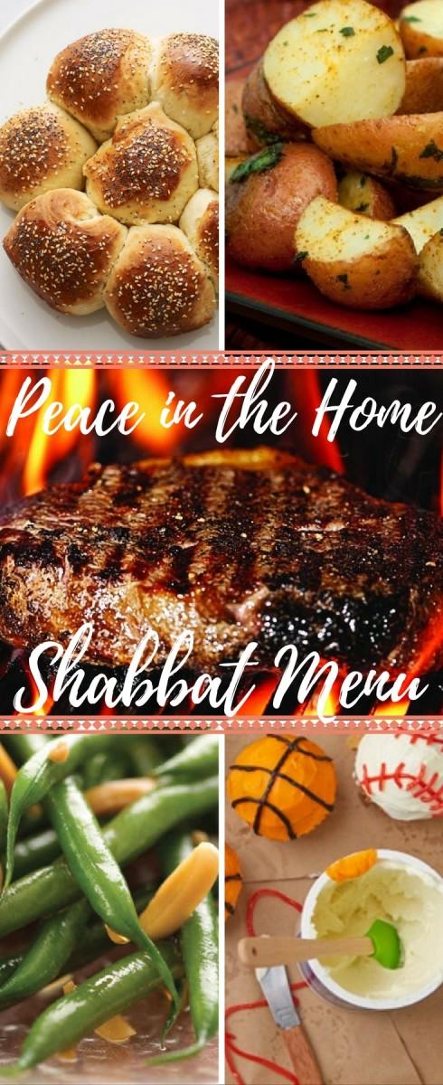Peace in the home shabbat menu