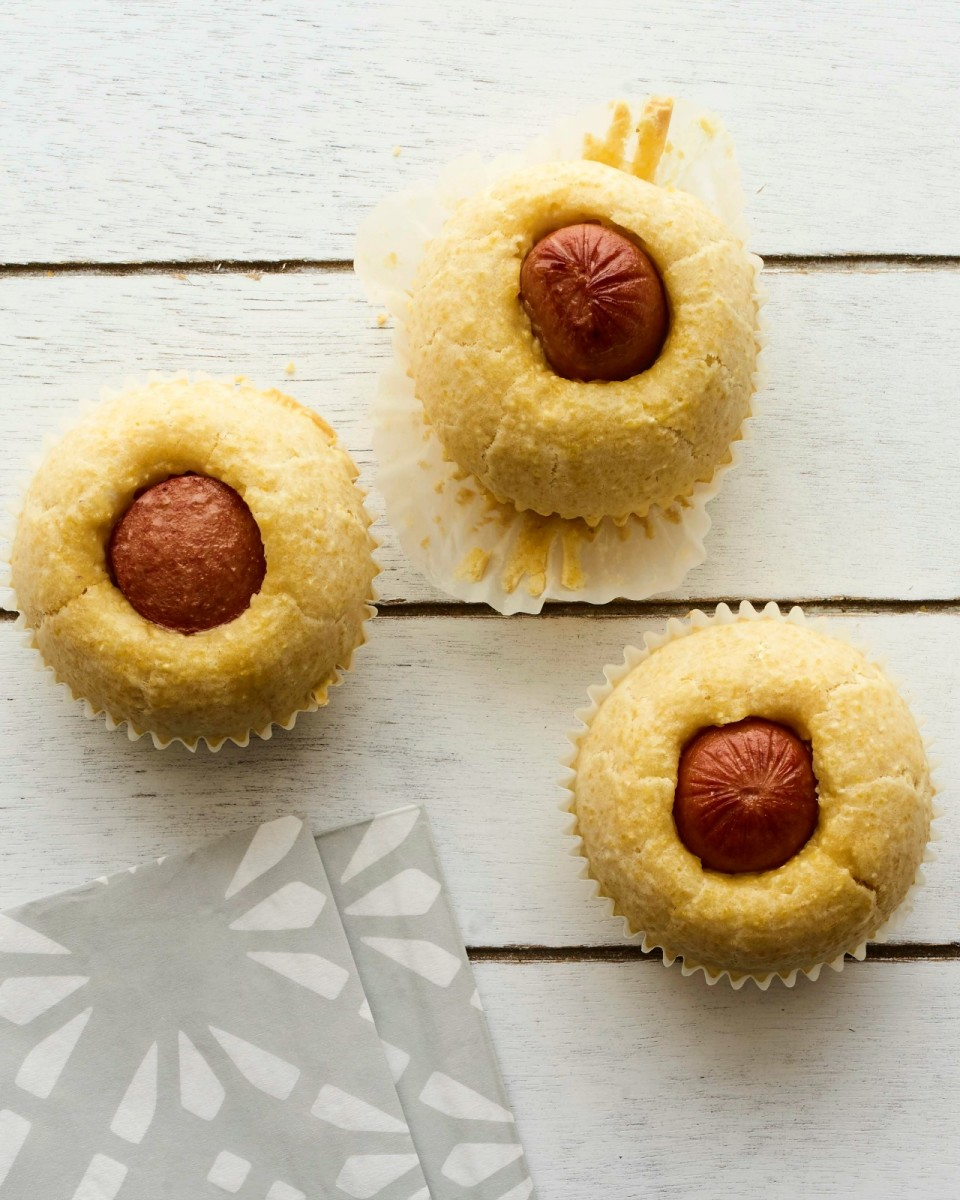 Corn Dog Muffins vertical