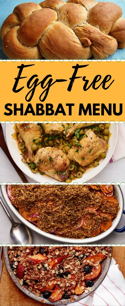 egg free shabbat menu