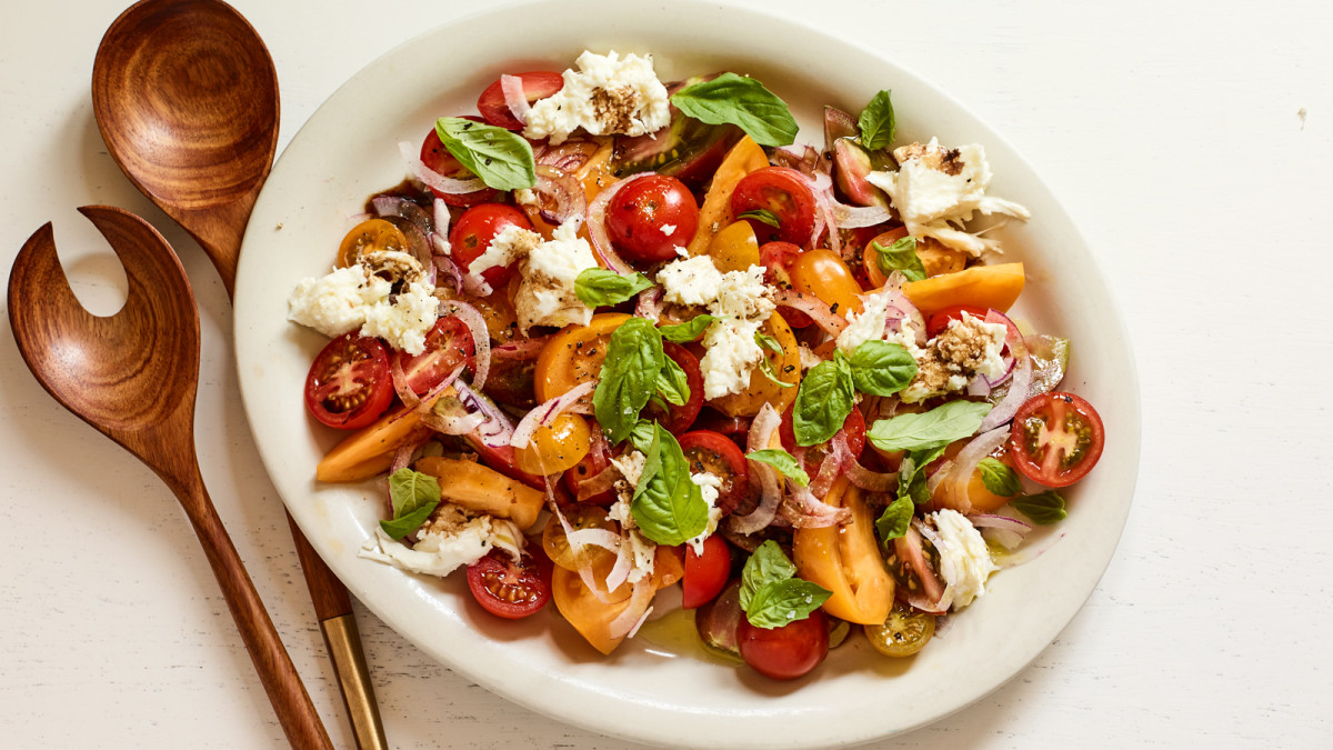 Super simple to make, this tomato basil salad showcases the joy in simple cooking.