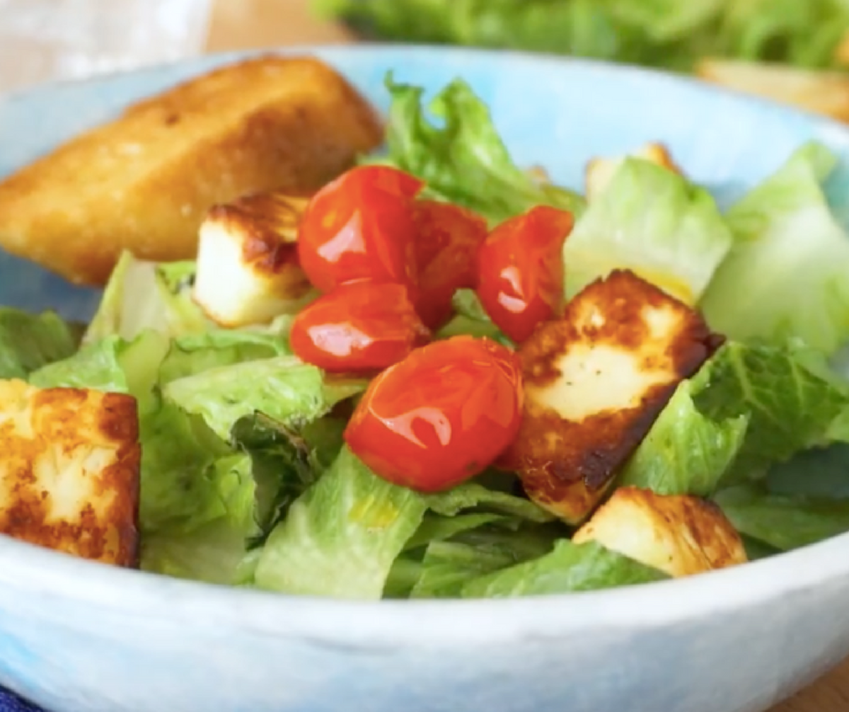 Halloumi Grilled Cheese Salad