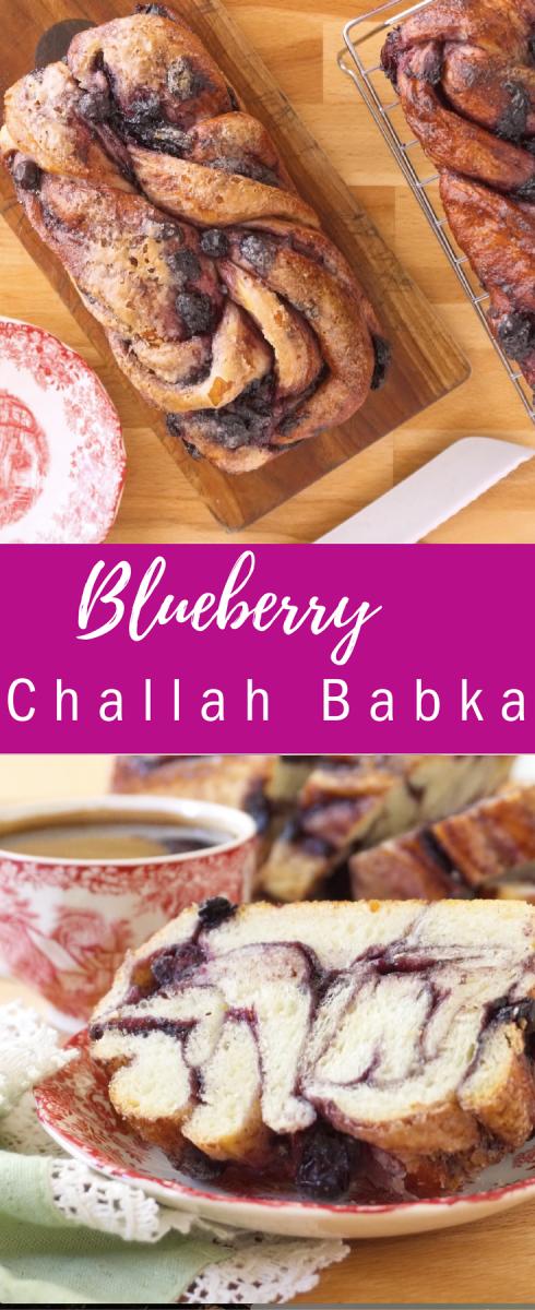 Blueberry Challah Babka pin