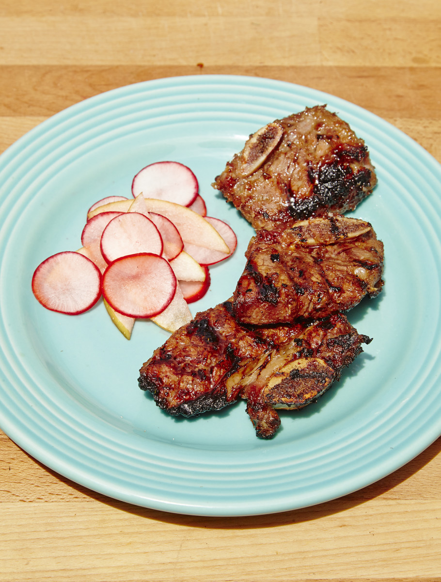 Korean Short Ribs with Pear Radish Salad