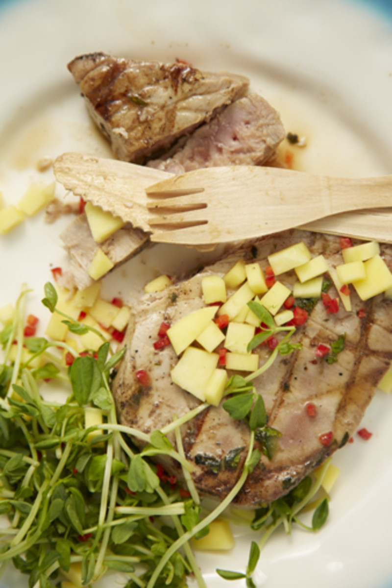Grilled Caribbean Tuna Steaks