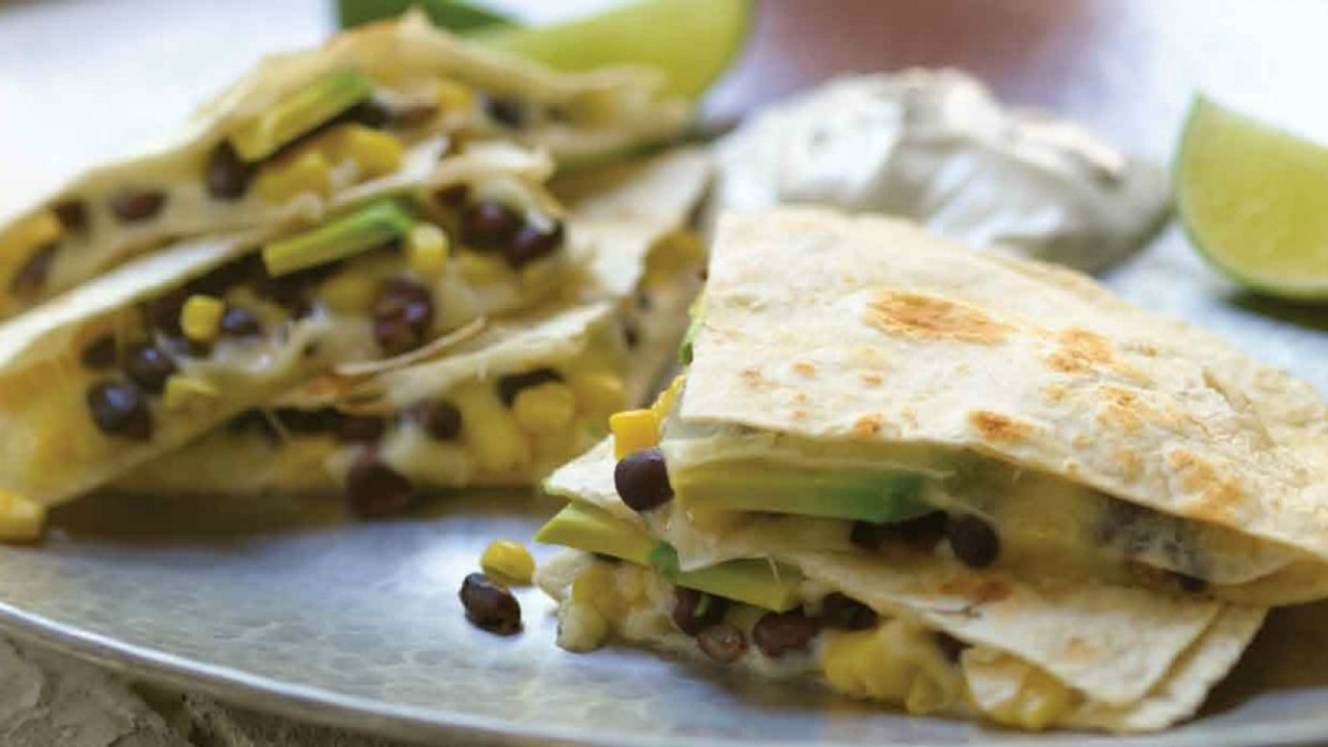 Mexican Black Bean Quesadillas