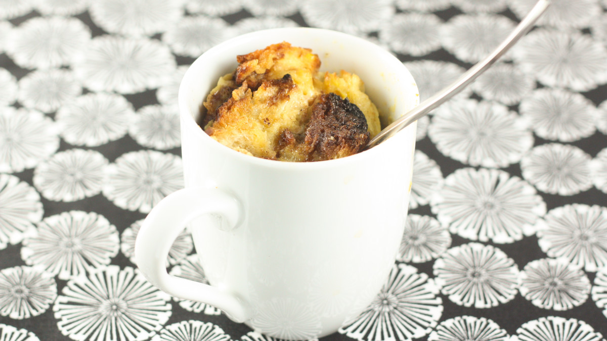 Cinnamon Bun French Toast In A Mug