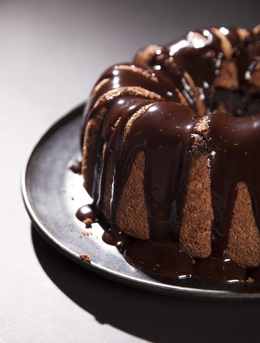 Chocolate Hazelnut Chiffon Cake