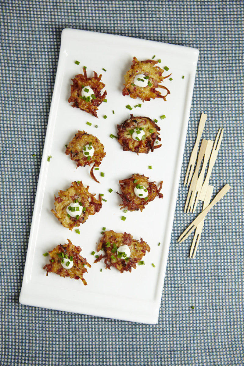 Pastrami-Ranch Potato Latkes