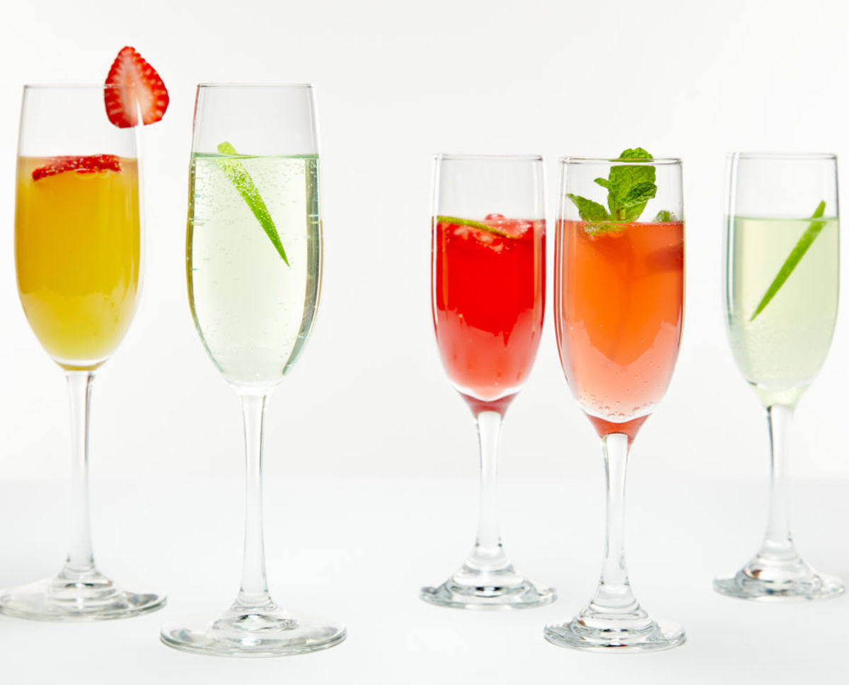 Bubble Mixers with variations - champagne