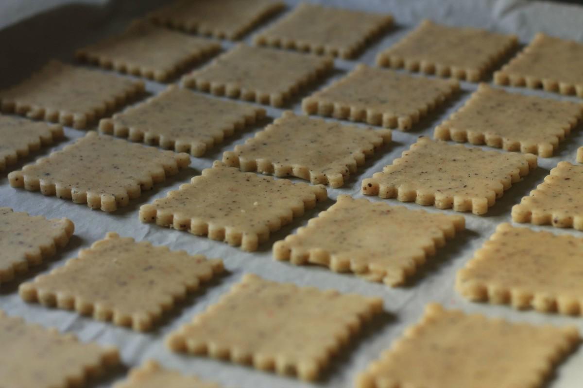 Masala Chai Cookies on cookie sheet