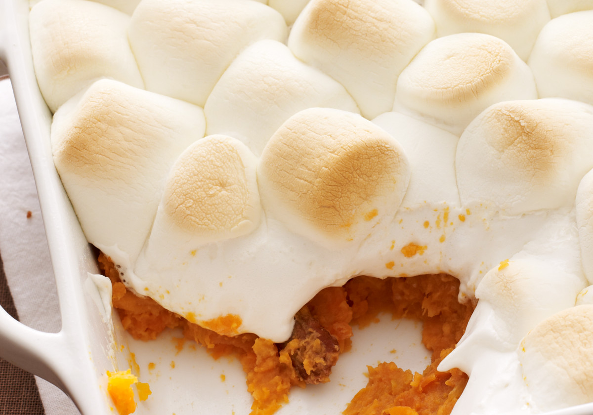 Sweet Potato Casserole With Marshmallow Topping Jamie Geller