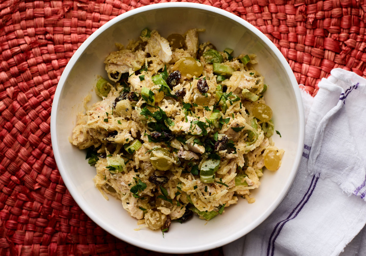 Curried Spaghetti Squash and Chicken Salad
