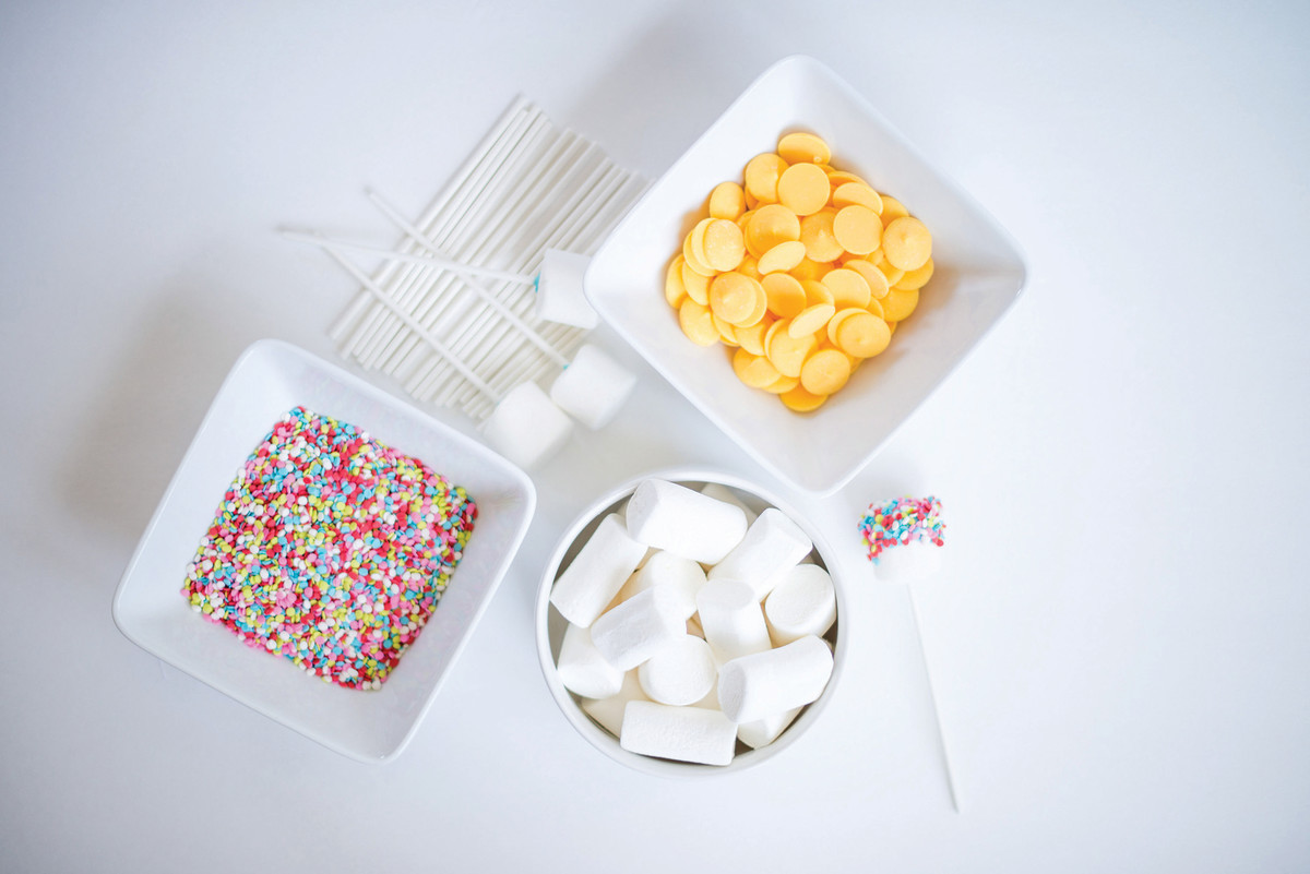 Confetti Marshmallow Pops Dipping Station
