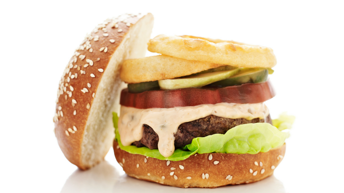 over the top special sauce burger