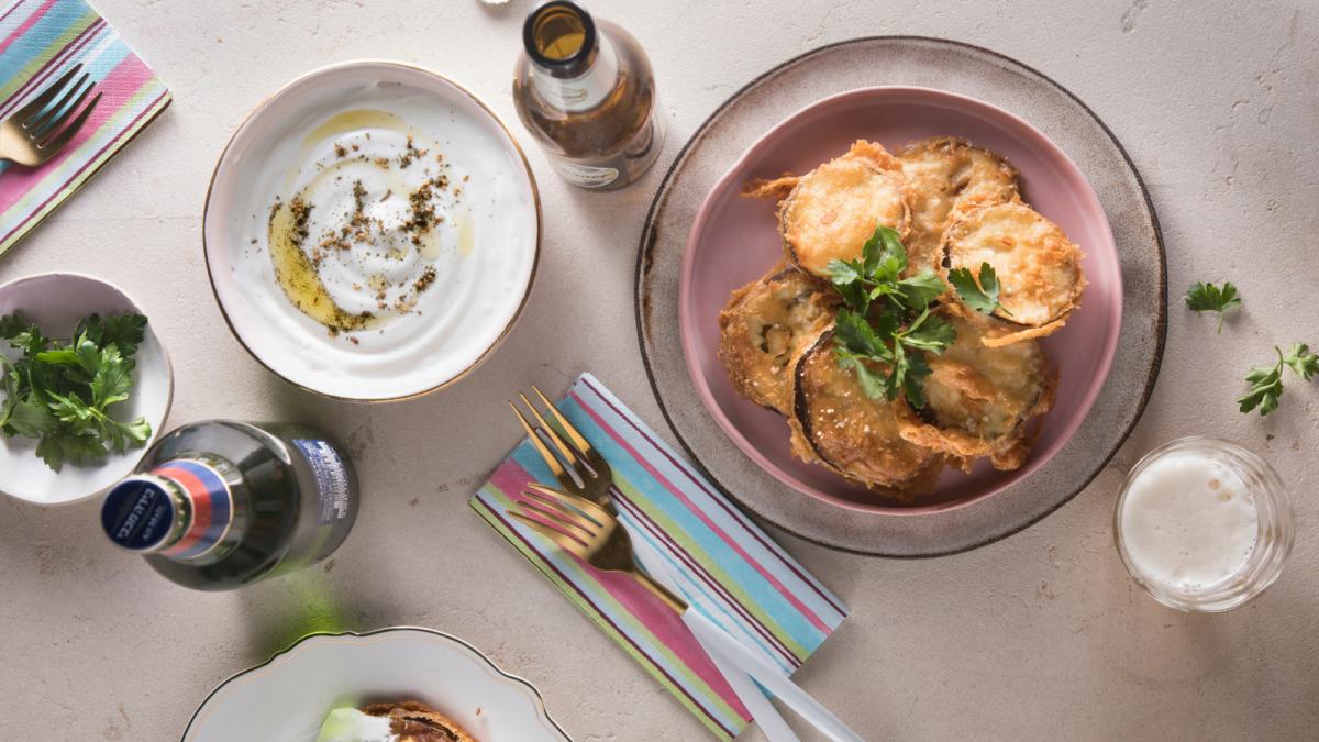 israeli beer battered eggplant tempura