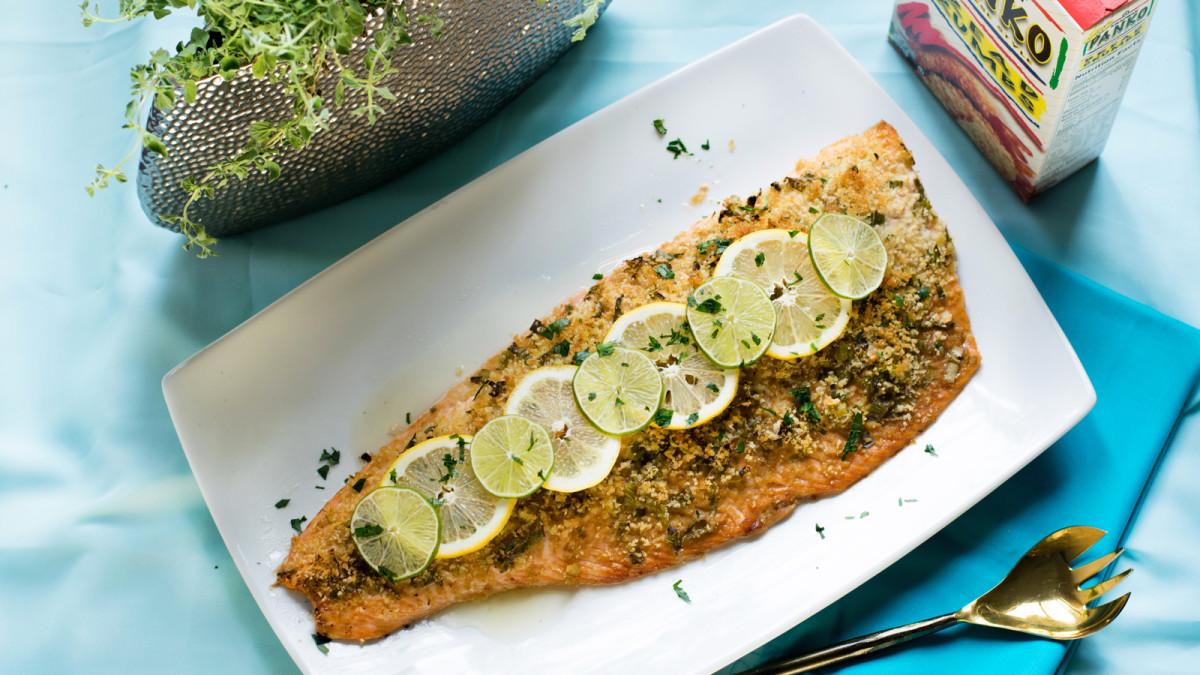 teriyaki leek salmon