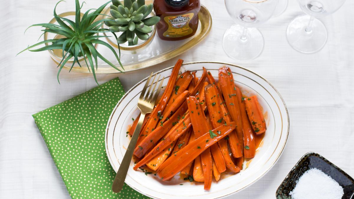 Jamie Geller - Sriracha Honey Glazed Carrots