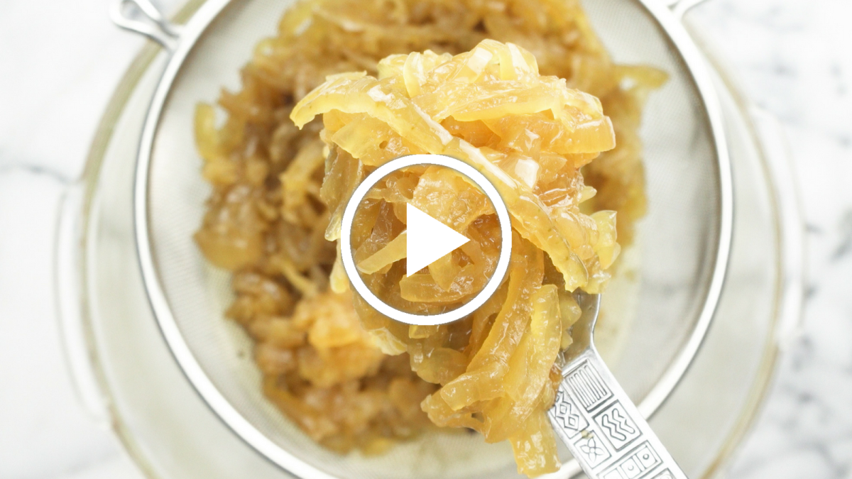 Slow Cooker Caramelized Onions Video