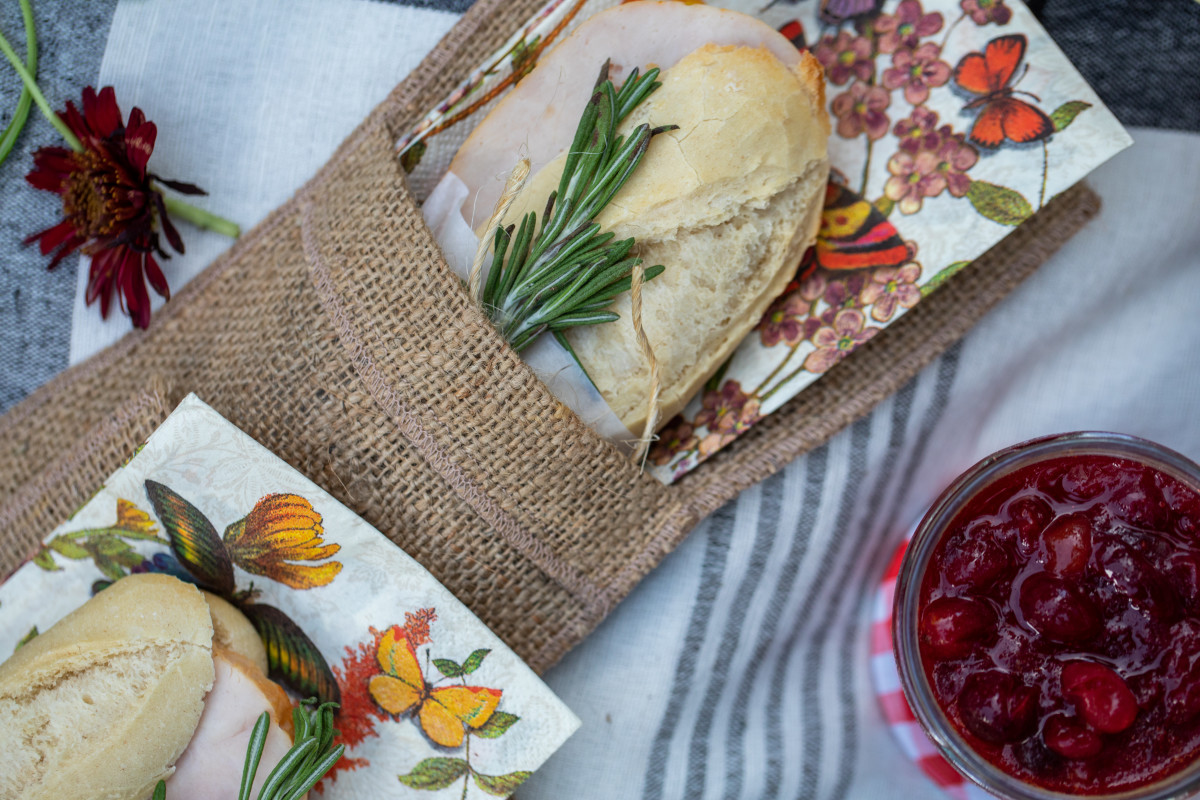 Honey Roasted Turkey On Baguettes