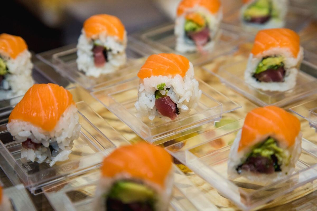 Tuna avocado roll with fresh salmon by 26 Sushi & Tapas