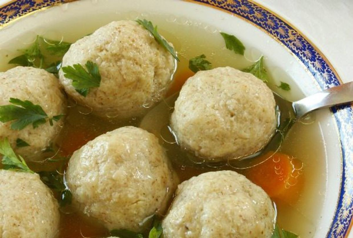 I cook up the beef porridge and add these matzo balls to the porridge.