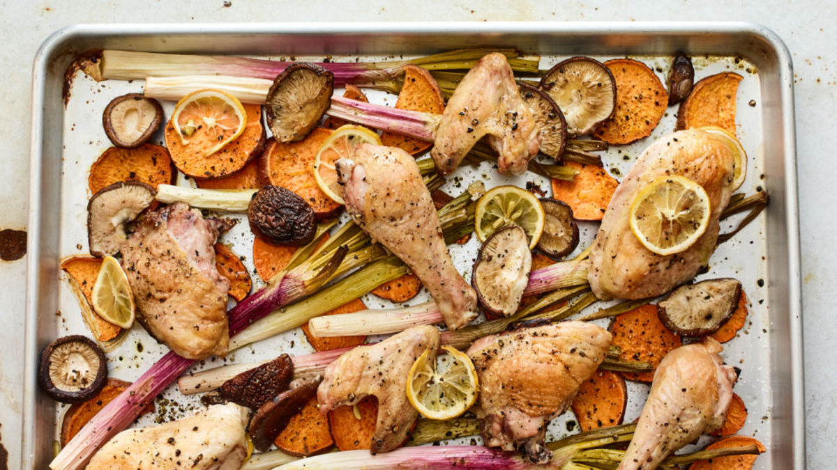 sheet-pan-roasted-chicken