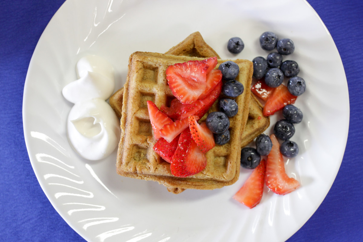 Waffle recipe available in the Camp Zeke E-Book.