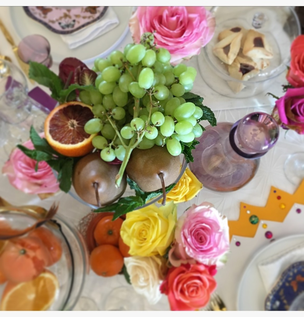 Fresh fruit I'll be serving at the end of the meal, can become part of your tablescape.