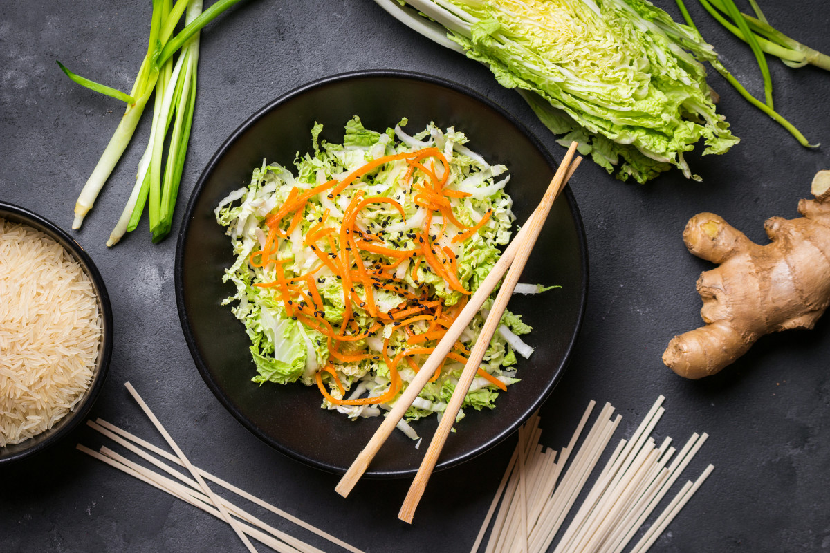 Asian Cabbage Simple slaw