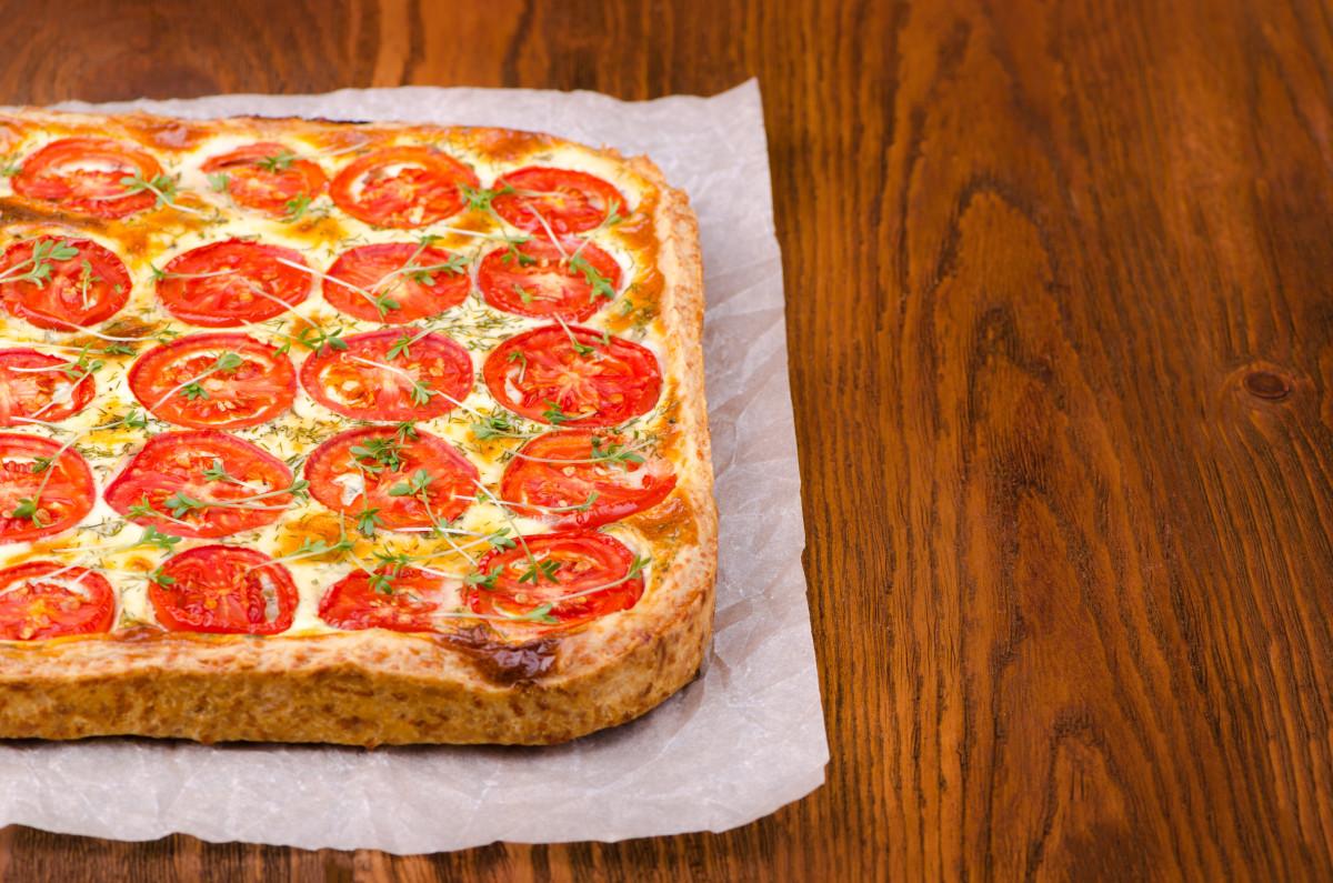 Fresh Tomato And Ricotta Tart
