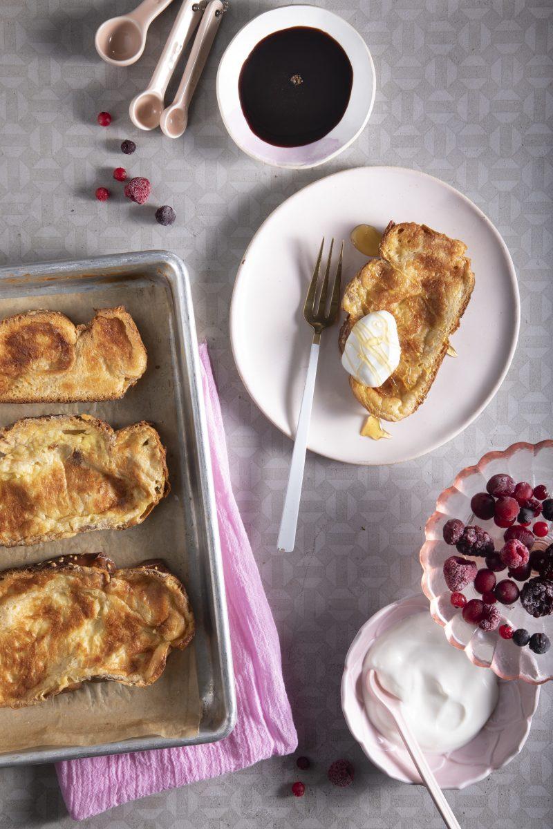 Sheet pan challah french toast
