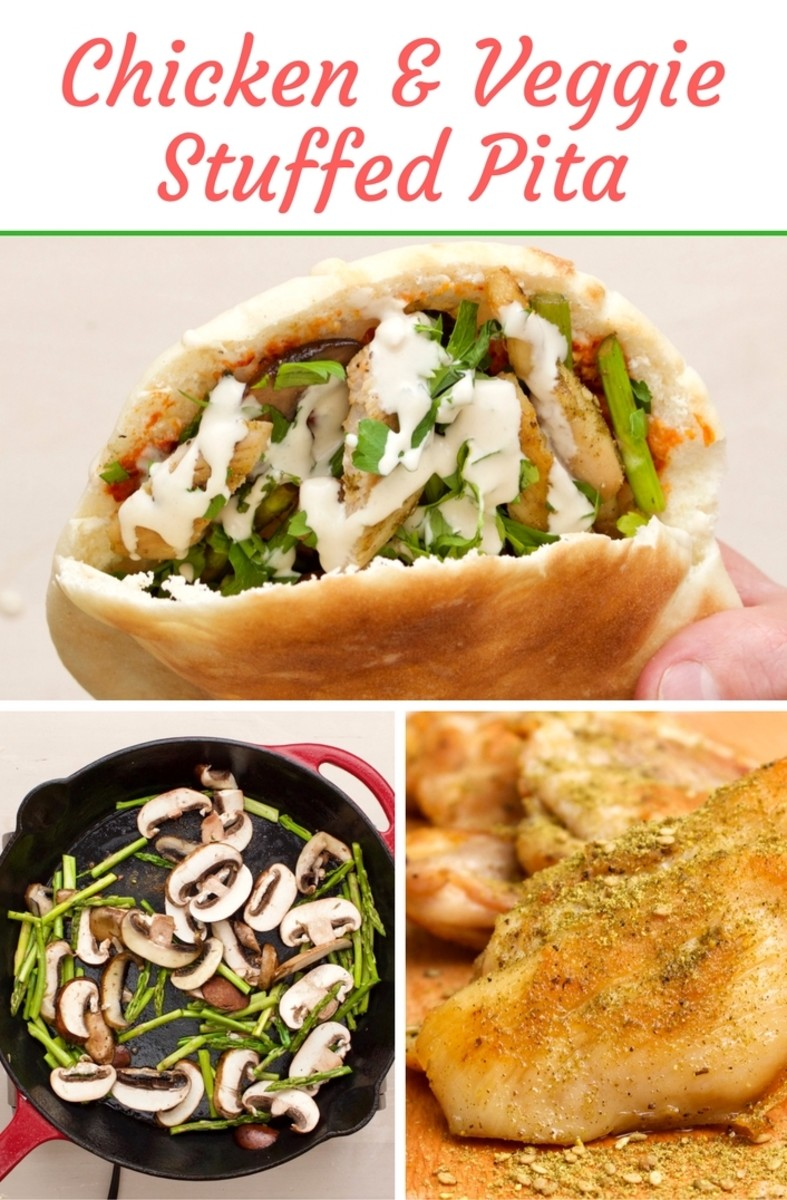 chicken-veggie-stuffed-pita-pinterest