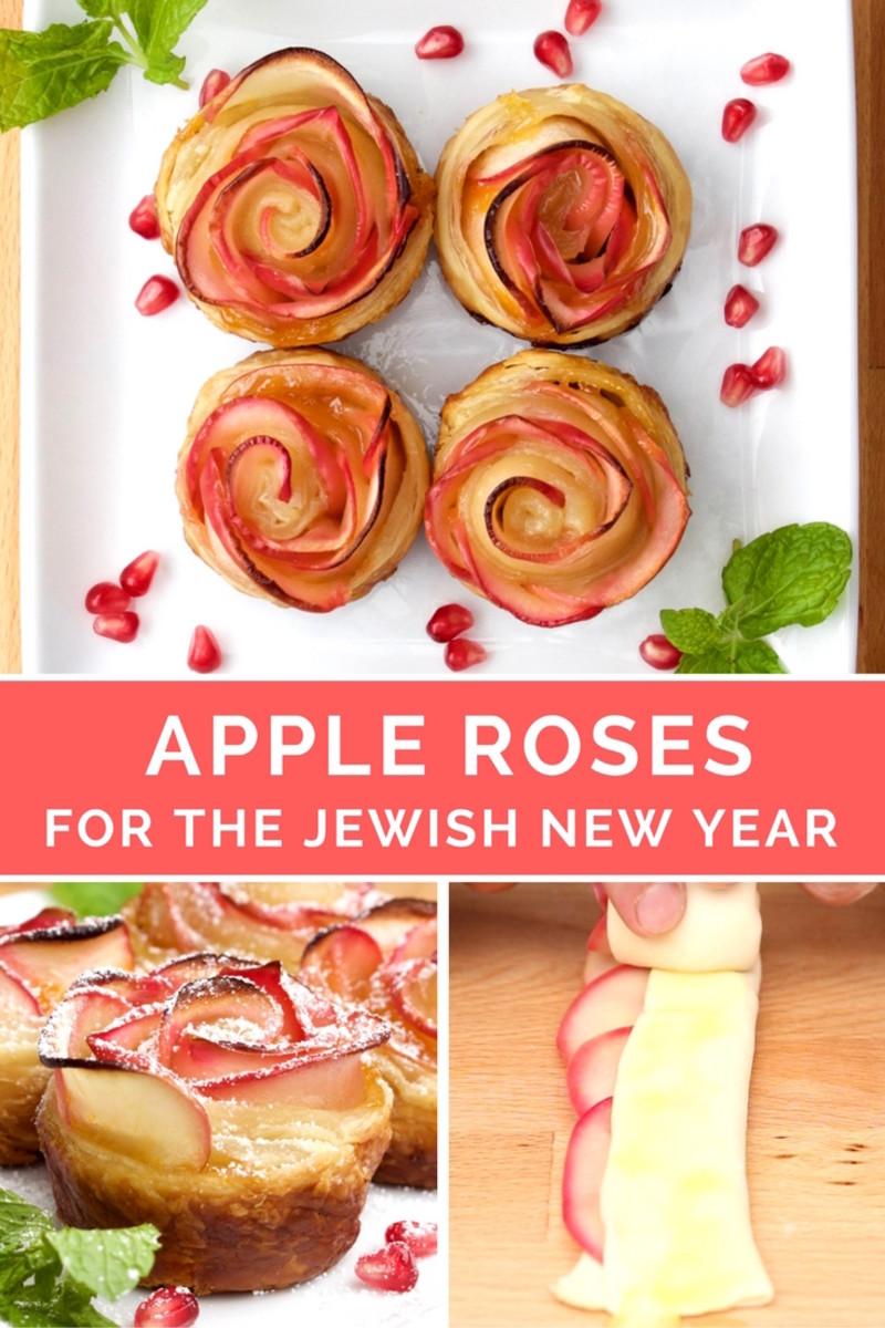baked apple roses recipe rosh hashanah