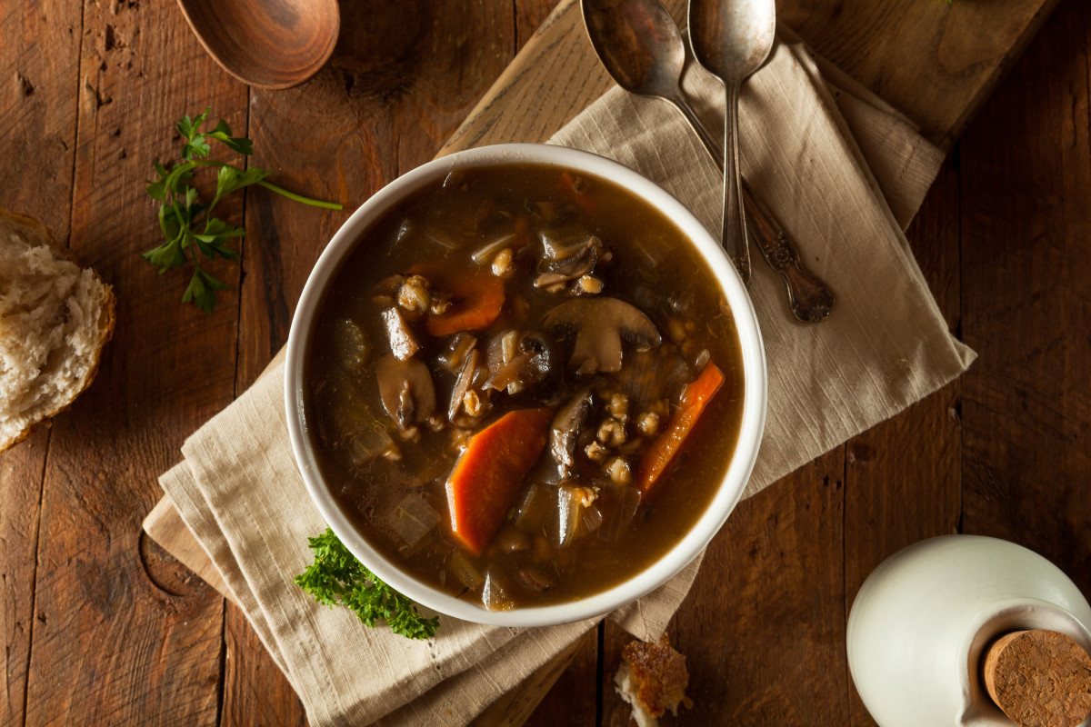 Beef and Mushroom Barley Soup in and Instant Pot